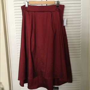 Beautiful burgundy skirt.